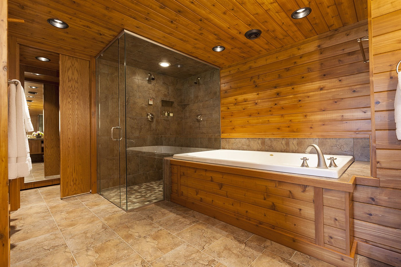 Wood bathroom design ideas