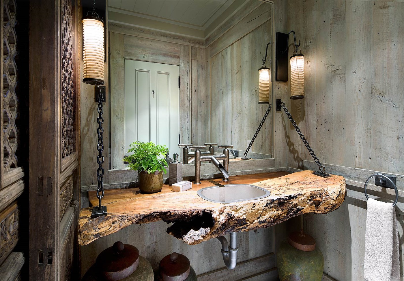 Cozy wood sink design ideas, bathroom