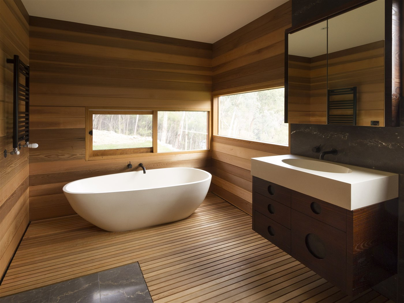 Modern wood bathroom design ideas