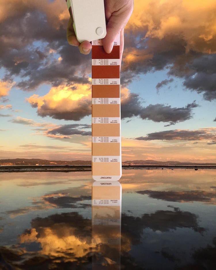 Pantone Colour Swatches, designer, photography, woodz, seaside, sunset, seaside sunset