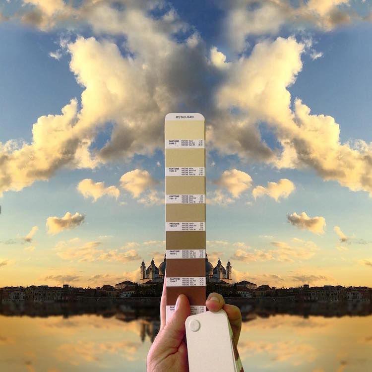 Pantone Colour Swatches, designer, photography, Sky, clouds