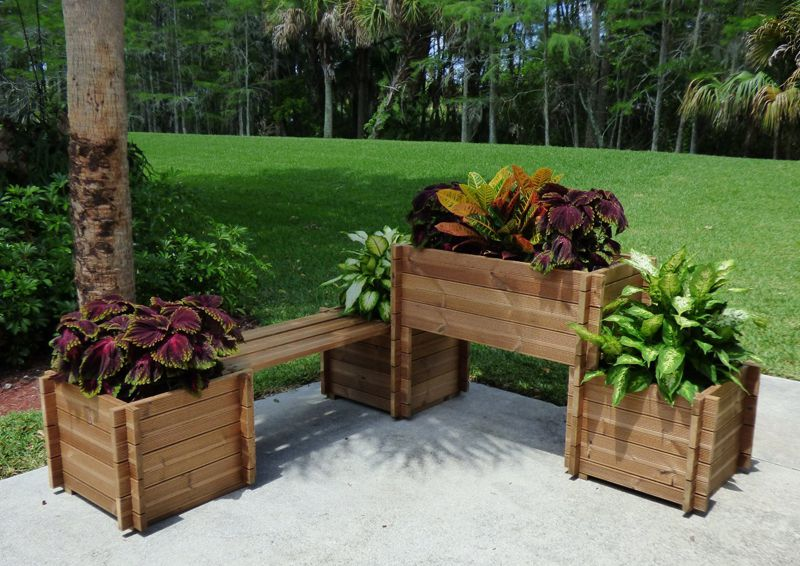 Wood cozy planters design ideas