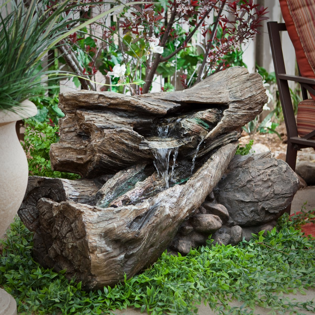 Wood waterfall design ideas, garden