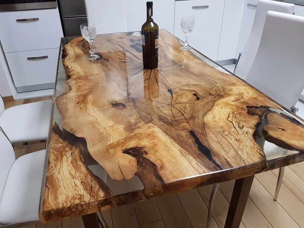 Cozy wood dining table resin design ideas
