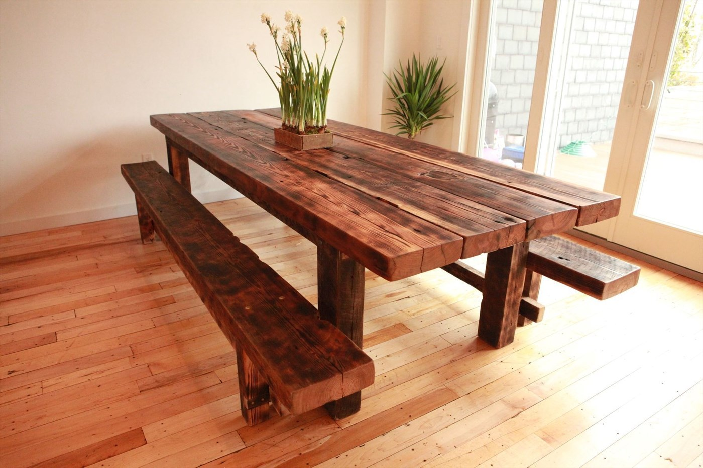 Wood rustic dining table design ideas