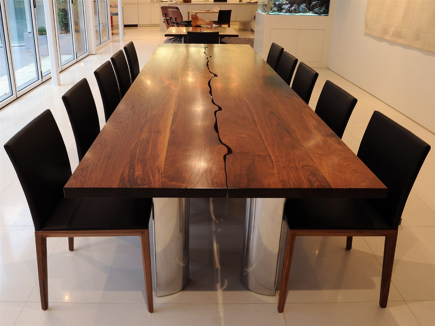 Wood modern dining table design ideas