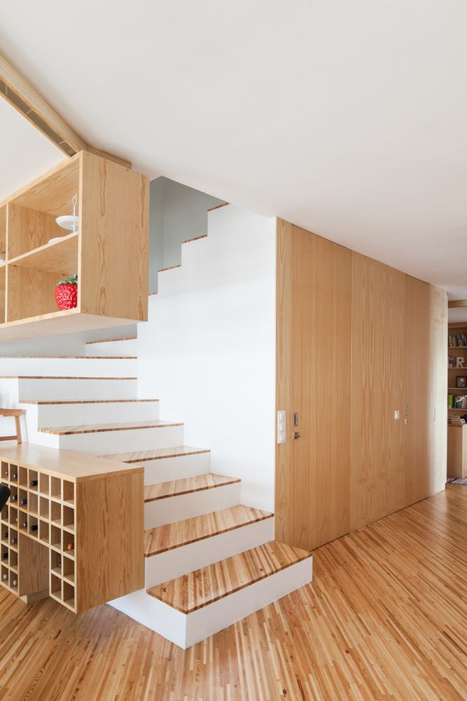 wood stairs and furniture