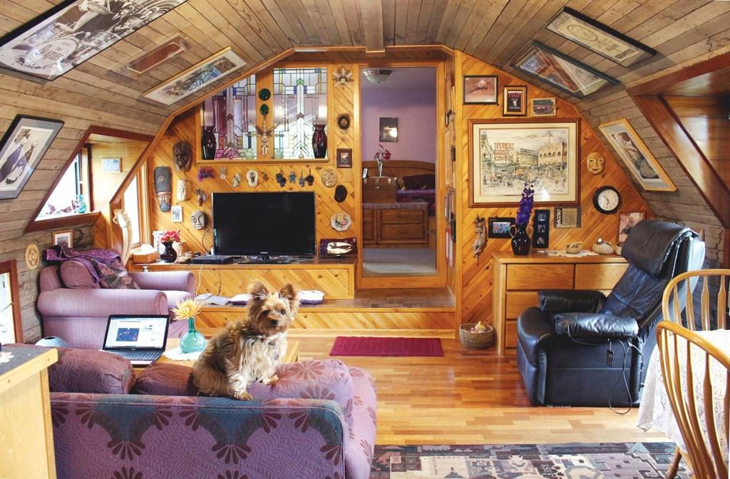 wood indoor design, quonset hut