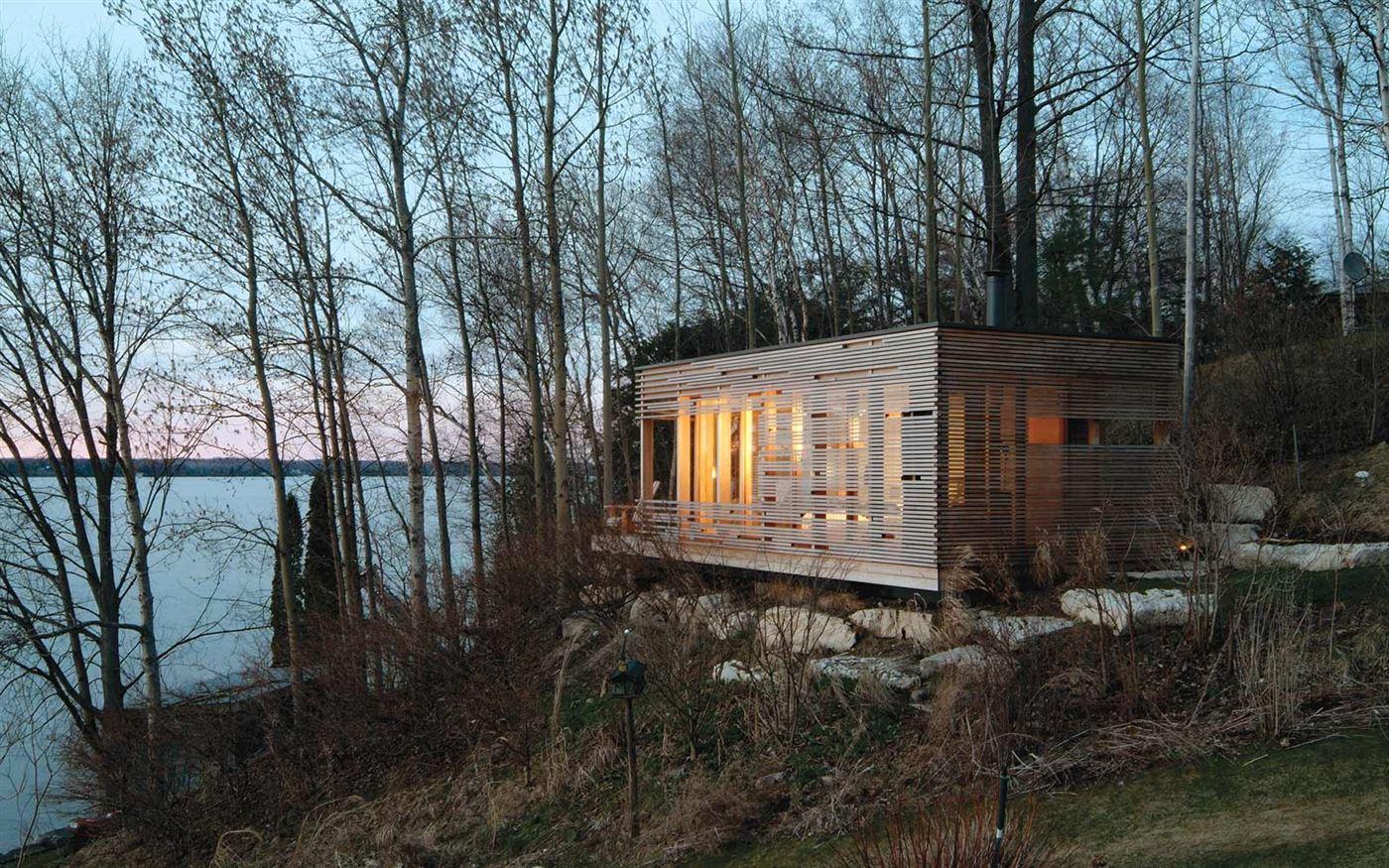 wood facade, cabin porn