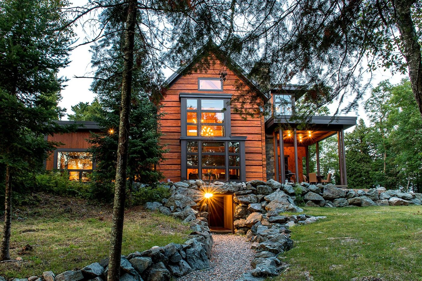 wood cabin, luxury house