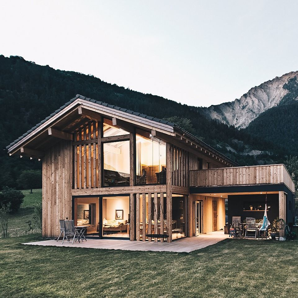 Luxury cabin, wood facade