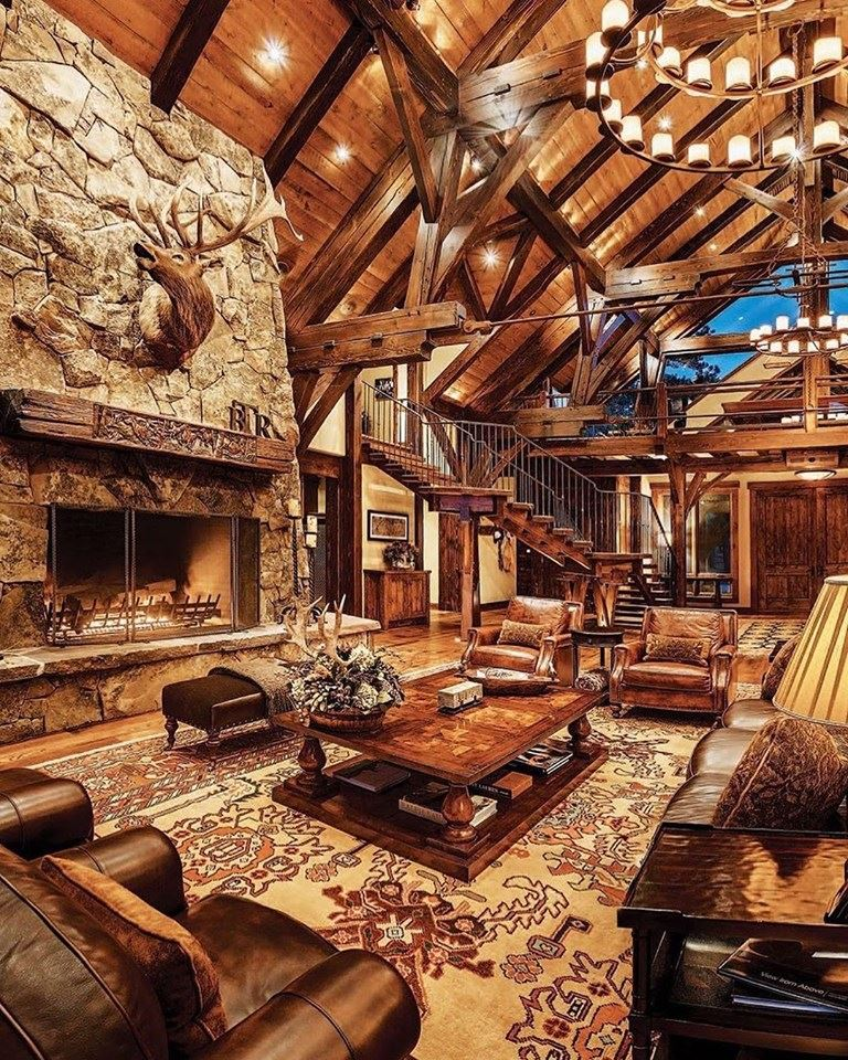 wood ceiling and beam, cozy living room design
