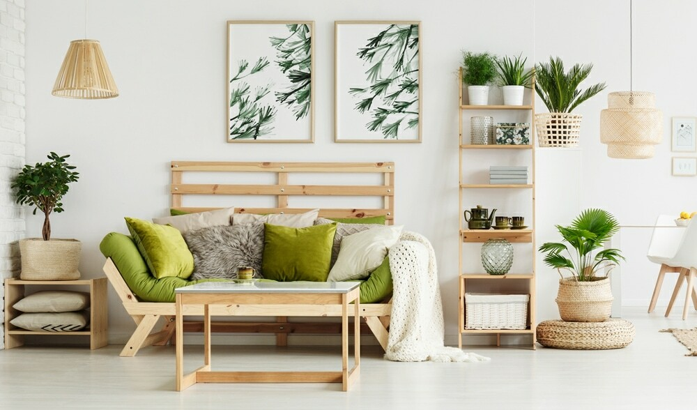 wood furniture, scandinavian interior design