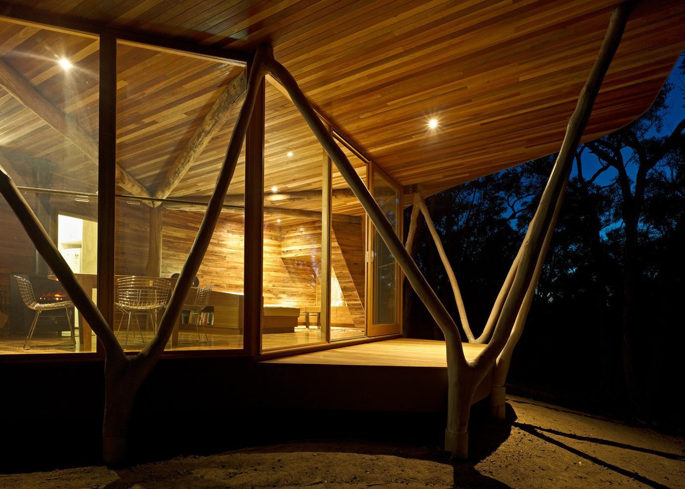 wood beams, cozy cabin