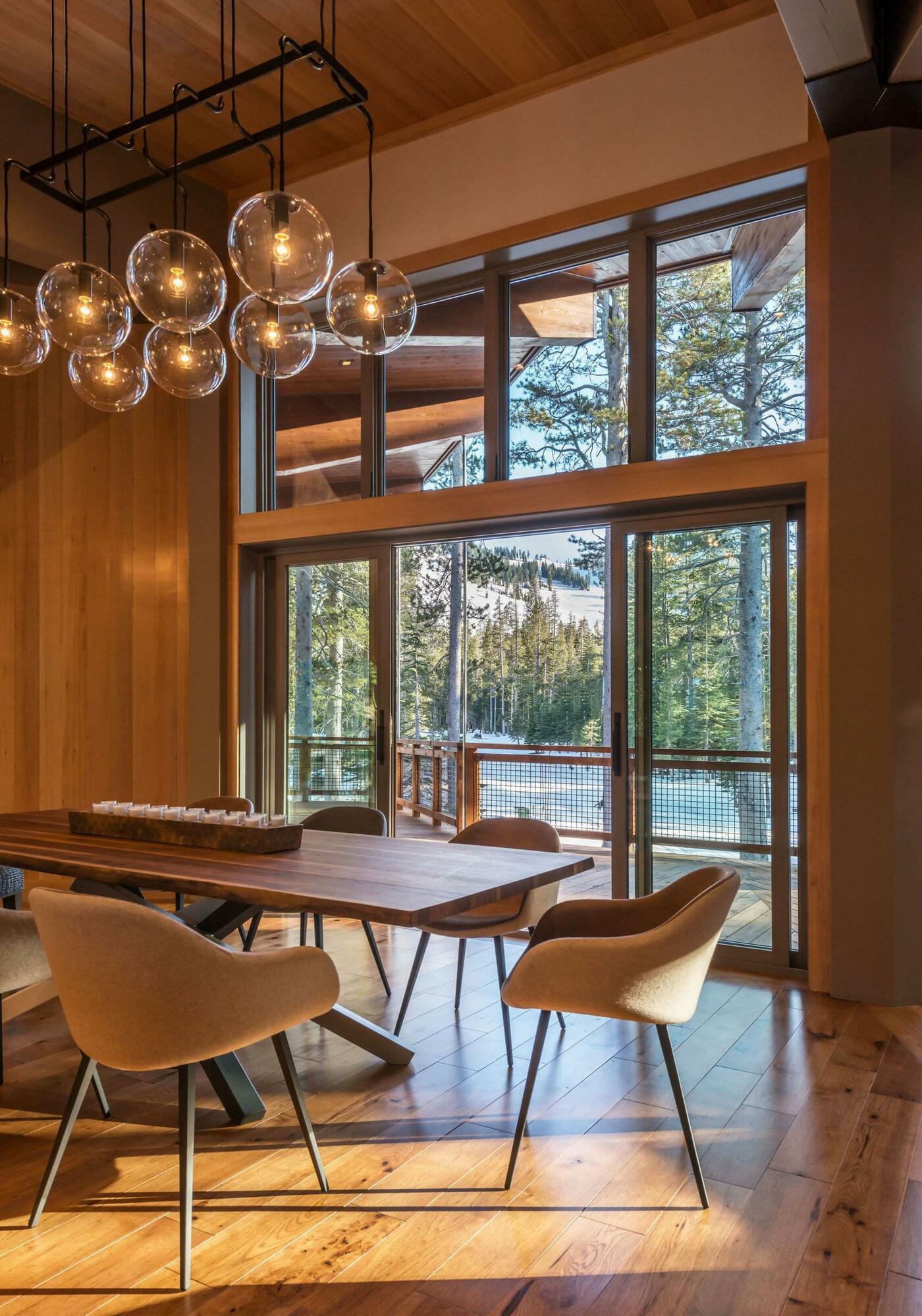 Cabin wooden interior design