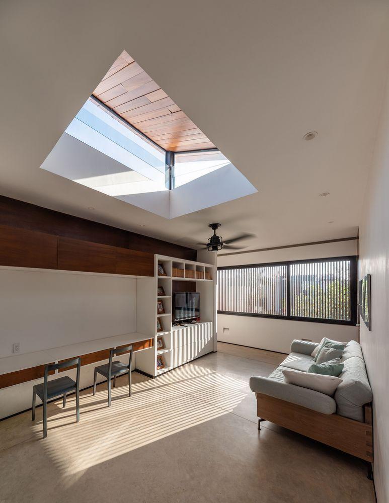 Wood house cozy interior